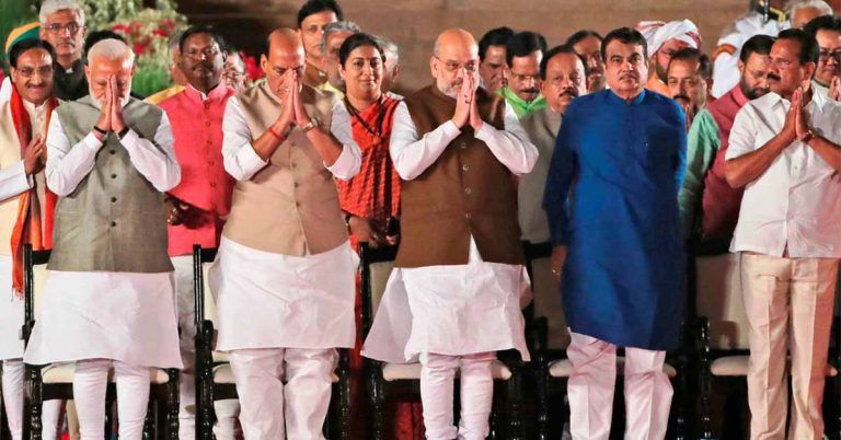 Cabinet Ministers of india in marathi